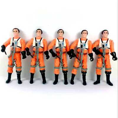"5Pcs Hasbro Star Wars Dutch Vander Gold Leader A New Hope 3.75"" figure toy gift"