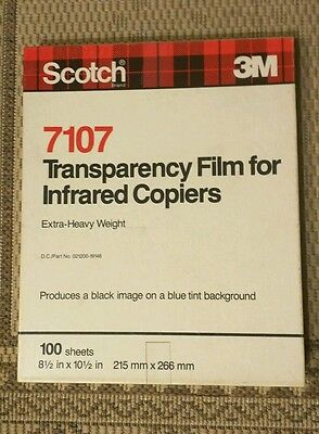 Scotch 3M 7107 Transparency Film Infrared copiers Letter Size, most of box