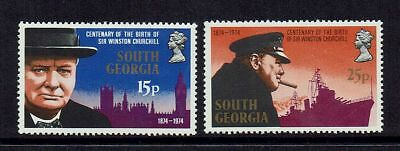 South Georgia..... Sir Winston Churchill 1974 Set Of 2...mint Unhinged