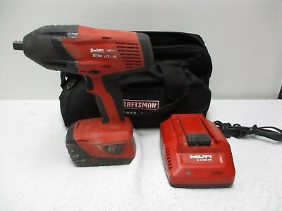 """Hilti SIW 18T-A  1/2"""" Drive Cordless Impact Wrench w / Battery Charger Carry Bag"""
