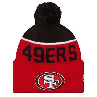 c947399b472 NEW San Francisco 49ers NFL New Era On Field Beanie Knit Hat Cap Pom Adult  Size