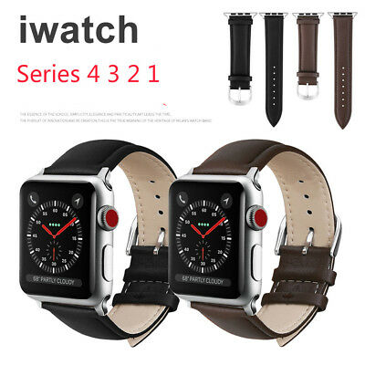 Genuine Leather Band Strap For Apple Watch iWatch Series 1/2/3/4 38/42 40/44 mm