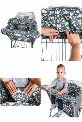 2-in-1 Shopping Cart Cover and High Chair Cover, Universal Fit, Ultra Plush