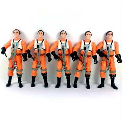 "Lot 5Pcs Star Wars Dutch Vander A New Hope Gold Leader 3.75"" figure Hasbro toys"