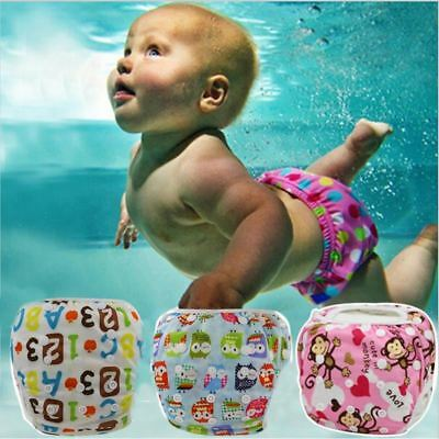 Baby Unisex Waterproof  Swim Diaper Pool Pant Reusable Washable 30 Color