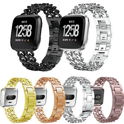 New Stainless Steel Metal Bracelet For Fitbit Versa Smart Watch Band Wrist Strap