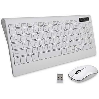 PRO+ Keyboard & Mouse Combos Wireless Rechargeable Quiet Compact For PC Laptop