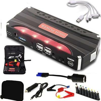 12V 68800mAh Car Jump Starter Power Bank Pack Booster Charger Battery H-Q
