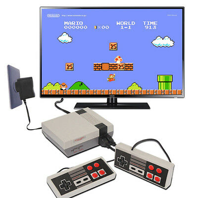 Mini Retro TV Game Console Classic 620 Games Built-in w/ 2 Controller Kid*k