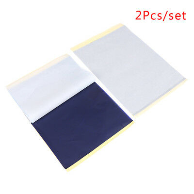 2Pcs/Set  A4 Tattoo Transfer Paper Stencil Carbon Thermal Tracing Hectograph*k
