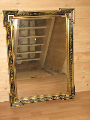 Miroir Ancien Napoleon Iii Bois Et Stuc A Angles Decales