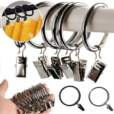 10pcs Set Stainless Steel Hook Metal Ring Clips with Eyelets For Window Curtain