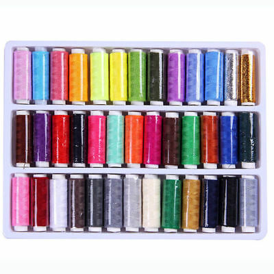 SA 39pcs 200 Yard Mixed Color  Polyester Spool Sewing Thread For Hand Machine