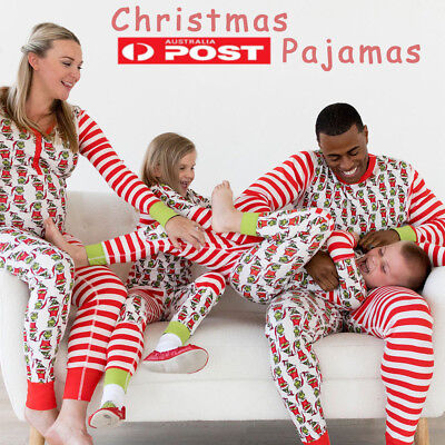 AU STOCK Family Matching Christmas Pajamas PJs Sets Xmas Sleepwear Nightwear