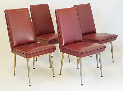 Suite 4 Chairs French Edition Erton 1950 Vintage Leatherette 50S 50'S