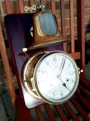 Schatz Royal Mariner 8 Bells Ships Clock And Bell With Ships Watch Striking