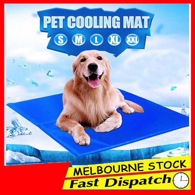 5 Sizes Non-Toxic Dog Cat Bed Gel Mat Cool Cooling Summer Bed Pad Large XXL