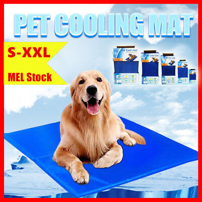 5 Sizes Cool Cooling Summer Bed Gel Mat Non-Toxic Dog Cat Bed Pad Large XXL