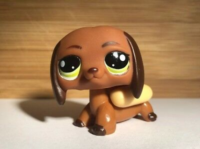 Lps Littlest Pet Shop Dachshund Dog 992 With Green Eyes Hotdog