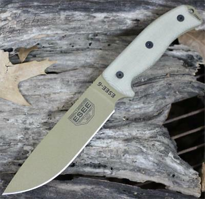 ES6PDE Couteau ESEE Model 6 Tactical Dark Earth Lame Acier Carbone 1095 Made USA