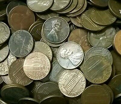 Lincoln Wheat, Memorial And Union Sheild 1 Cent Coins ×450 Grams Random Lot