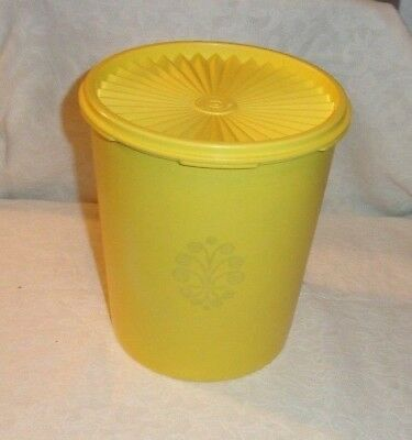 Vintage Yellow Tupperware 12 Cups Servalier Canister #807
