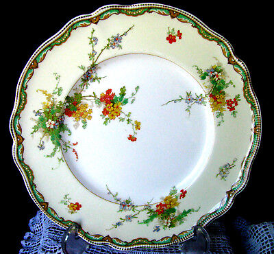 "Johnson Brothers Ningpo Luncheon Plate, Old Staffordshire 9"" Dessert Plate - VG"