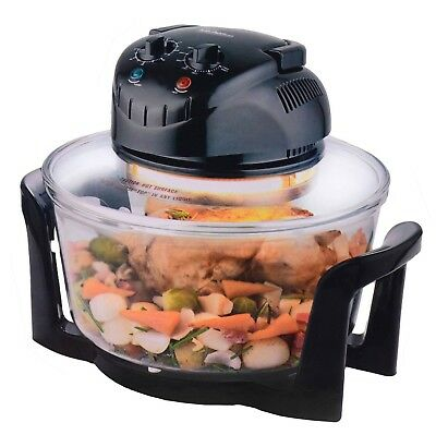 Sentik 12 Litre Black Premium Portable Halogen Convection Oven Cooker 1300w New