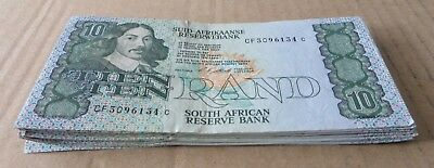 *Bulk Buy* South Africa 10 Rand 1990 x 20 notes VF. JO-6000