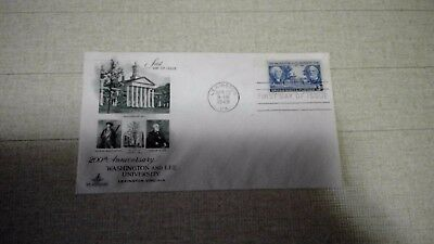 Briefmarken Sondermarken Ersttagsbrief 200th Anniversary Uni Lexington 1949 USA