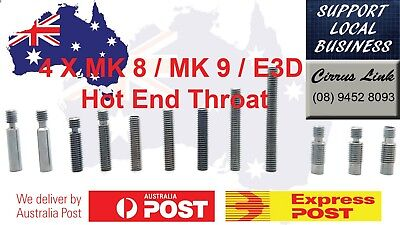 4 X 3D Printer Part 1.75 / 3mm MK8 / MK9 / E3D V5 V6 Throat Hotend Teflon PTFE