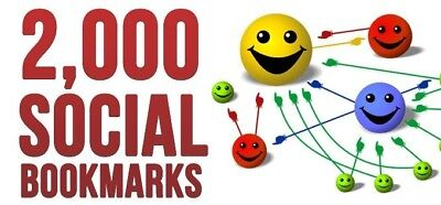 2,000+ SEO Social Bookmarks-Grow Traffic Backlinks-Rankings-Adult Sites Accepted