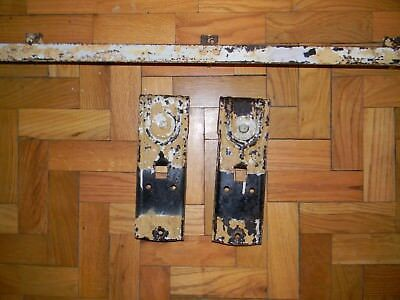 Antique Starline Cannonball Barn Door Hardware Rollers W Track End