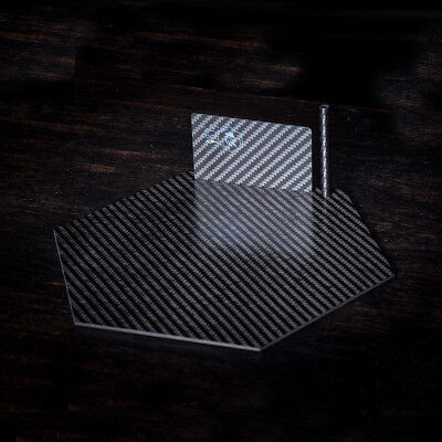 100% Carbon Fiber Black Plate Card And Straw Luxury Kit Snuff Tobacco Best Gift