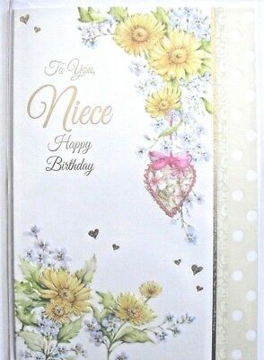 To You Niece Happy Birthday Greeting Card Wishing All The Happiness