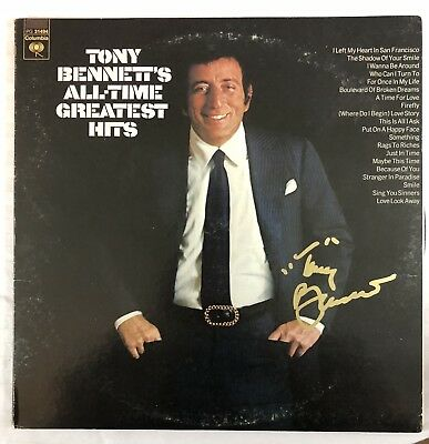 Tony Bennett Hand Signed All Time Greatest Hits Vinyl Rare Autographed Authentic