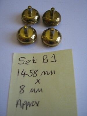 Replacement Brass Bun Feet - Ideal for Carriage Clock / Display Case