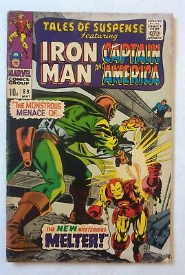Tales Of Suspense 89 Iron Man Captain America Silver Age VG+/NF- Condition 1967