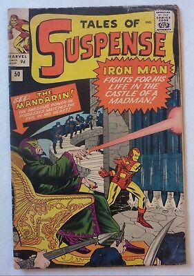 Tales Of Suspense 50 Iron Man First Mandarin Silver Age VG+/NF- Condition 1964