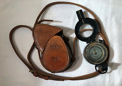 1940 T G Co Ltd LONDON No 49599 MKIII Prismatic Compass with Leather Case