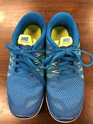 8f2dda1b762a Nike Free 5.0 Military Blue White Polarized Blue Running 644428-400 GS sz 5Y