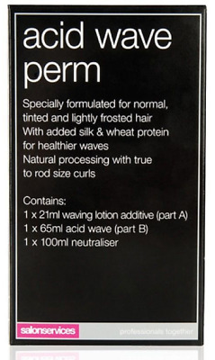 Salon Services One Use Acid Wave Perm New & Boxed