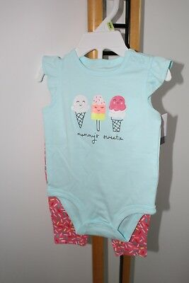 Carter's Carters Girls Size 3 Months Ice Cream Sprinkles Leggings Top  NWT NEW