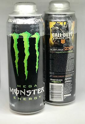 New Mega Monster Energy Drink Limited Ed Call Of Duty Black Ops 24 Fl Oz 1 Can