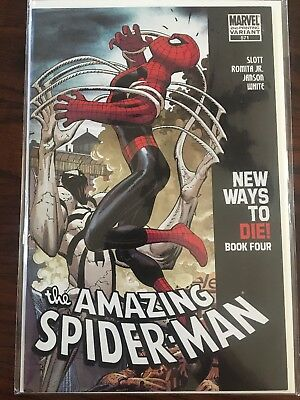 AMAZING SPIDER-MAN #571 John Romita Jr  Cover 2nd print Variant Anti Venom
