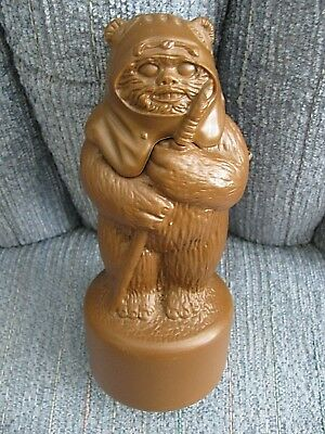 """Vtg 1983 Star Wars Wicket the EWOK SHAMPOO still in the bottle with tag 7"""" Tall"""