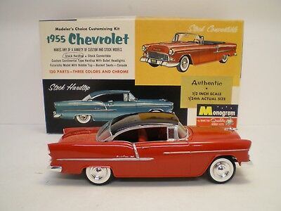 1955 Chevrolet Hard Top by Monogram built  stock with flat box  Kit # PC83 L@@K!