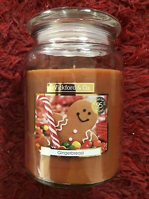 Wickford & Co, Gingerbread Scented Christmas Candle Burn Up To 95 Hrs FREE POST