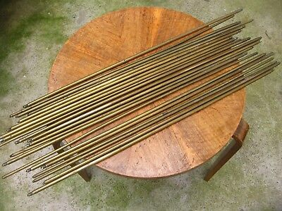 21 Antique Brass Stair Rods