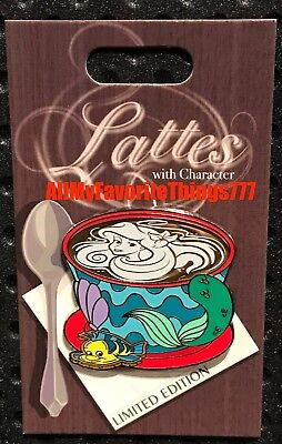 Disney Lattes With Character Little Mermaid Pin Latte Mug LE 3000 Preorder Oct
